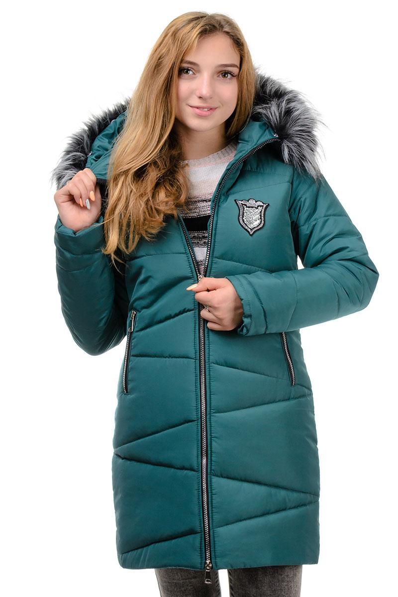 Стильное зимнее пальто бутылка