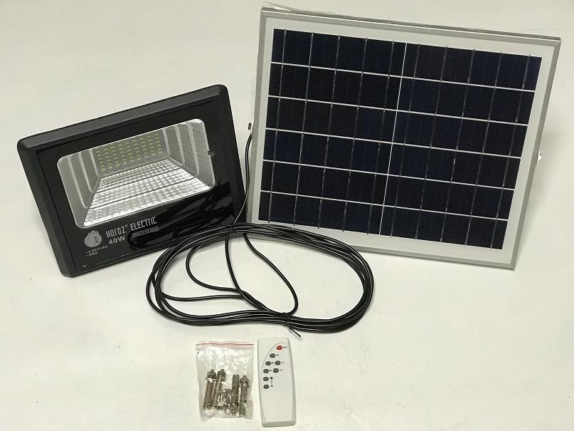 Светодиодный уличный прожектор на солнечной батарее Тiger-40 40w 6400К IP65 Код.59618