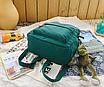 Рюкзак женский городской Sunshine Зеленый с брелком, фото 7