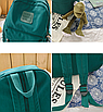 Рюкзак женский городской Sunshine Зеленый с брелком, фото 8
