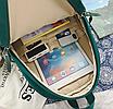 Рюкзак женский городской Sunshine Зеленый с брелком, фото 10