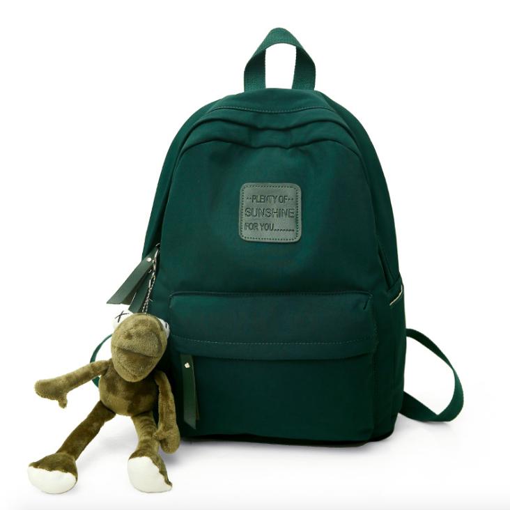 Рюкзак женский городской Sunshine Зеленый с брелком