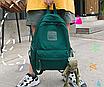 Рюкзак женский городской Sunshine Зеленый с брелком, фото 3
