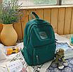 Рюкзак женский городской Sunshine Зеленый с брелком, фото 4