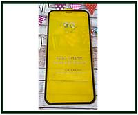 Защитное стекло дисплея для Apple iPhone 10R, XR (закаленное стекло) 9D, черное