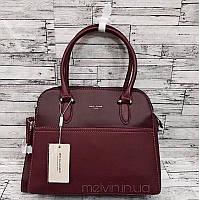 Классическая женская сумка  David Jones Бордо