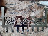 """Вешалка на дверь Livarno """"Бабочки"""", длина 40см, нержавеющая сталь, фото 2"""