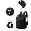Рюкзак городской для ноутбука Fashion Casual Черный, фото 3
