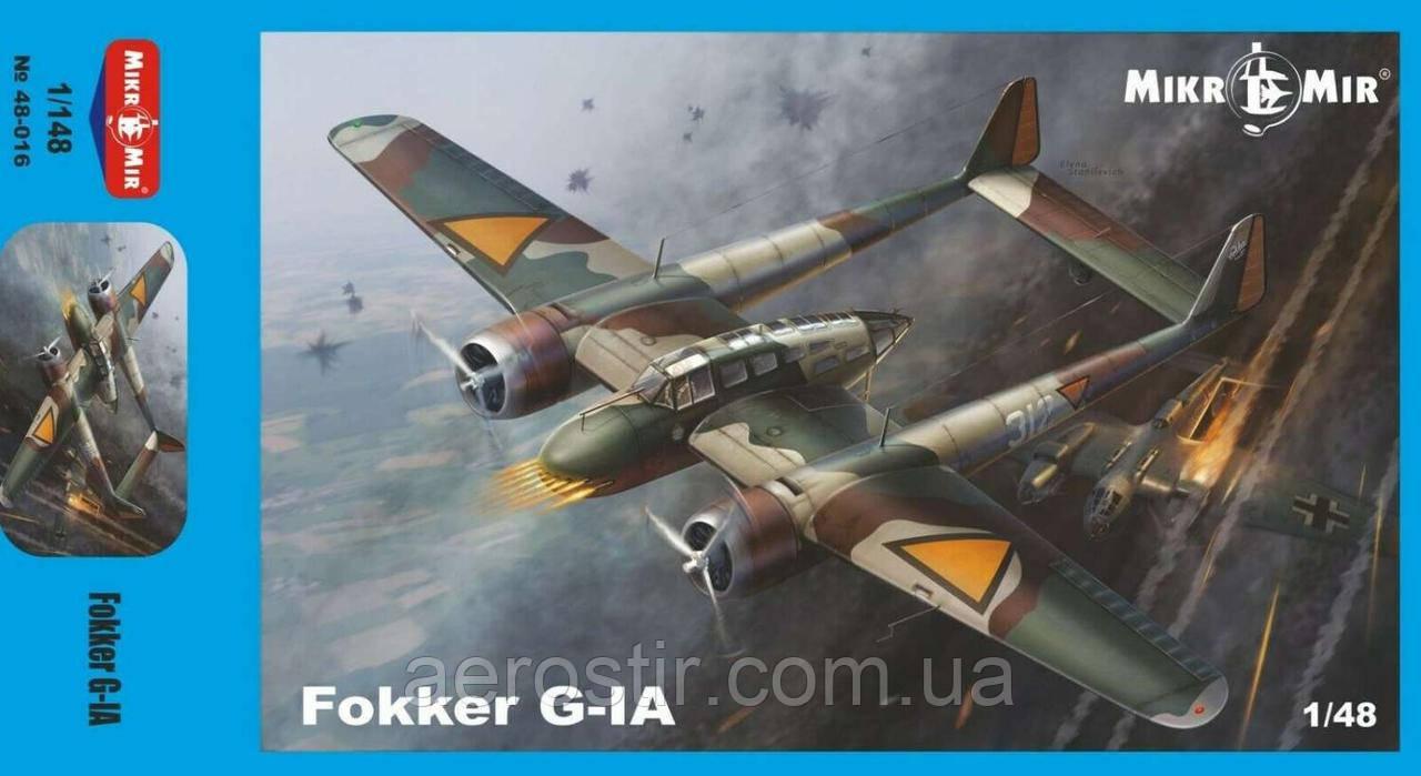 Истребитель Fokker G-1a 1/48 МикроМИР 48-016