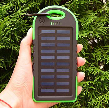 Павер Банк на солнечной батарее Solar Charger 10000 mAh (реплика) Green