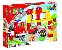 """Конструктор JDLT 5153 """"Пожарная станция"""" (аналог Lego Duplo, 69 деталей)"""
