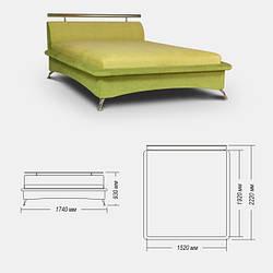 Ліжко Астра - флеш 152 х 192 з матрацом, пруж Хутро Фабрика м'яких меблів Creale