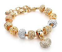 Женский браслет Primo Heart с шармами - Gold Silver, фото 1