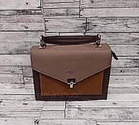 Комбинированная женская сумка  David Jones Коричневая
