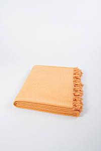 Плед хлопковый U.S.Polo Assn - Kalispell желто-оранжевый 160х200 полуторный