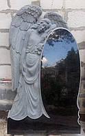 Памятники со скульптурой. Памятник в виде ангела №333 гранитный резной