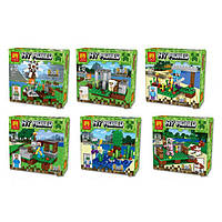 "Конструктор Lele 33040 ""My World"" (Аналог LEGO Minecraft,390 деталей, комплект из 6), фото 1"