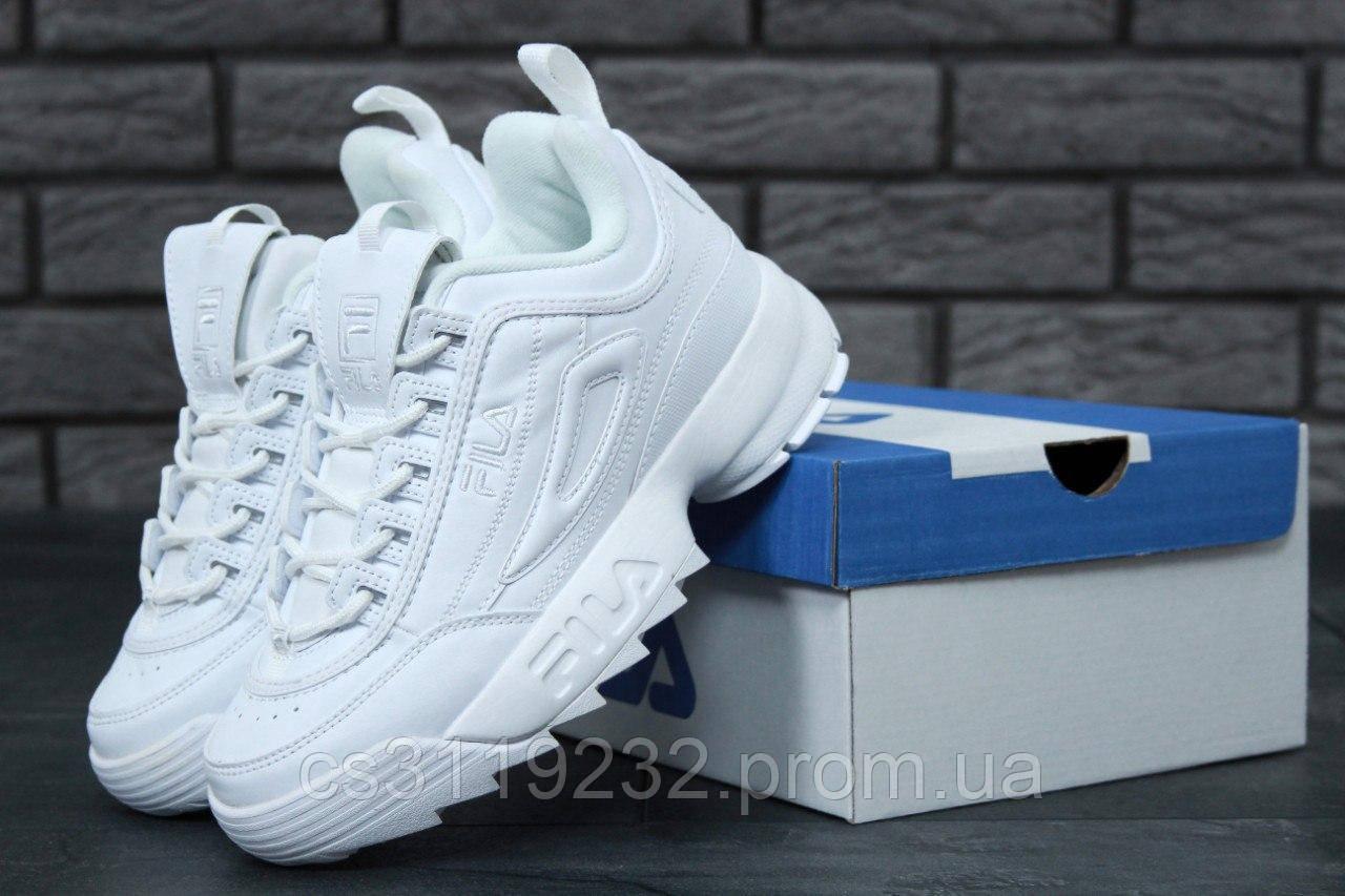 Женские кроссовки Fila Disruptor (белые)