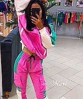 Женский яркий модный костюм Разные цвета