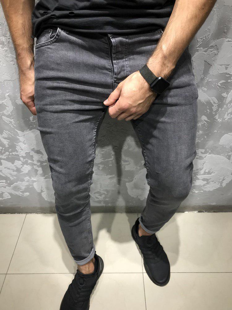 Мужские джинсы зауженные M. M. 674 grey