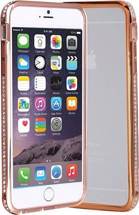 Бампер SHENGO SG03 Metal Bumper iPhone 6 Rose Gold, фото 2