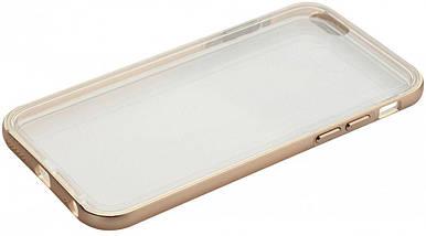 Бампер TOTO Aluminum +TPU bumper case iPhone 5/5s Gold, фото 3