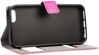 Чехол-книжка TOTO TPU material case iPhone 5/5S Pink, фото 3