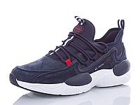 Кроссовки BaaS мужские замшевые тёмно-синие