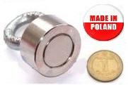 Поисковый односторонний магнит D25xh10mm (30 кг)