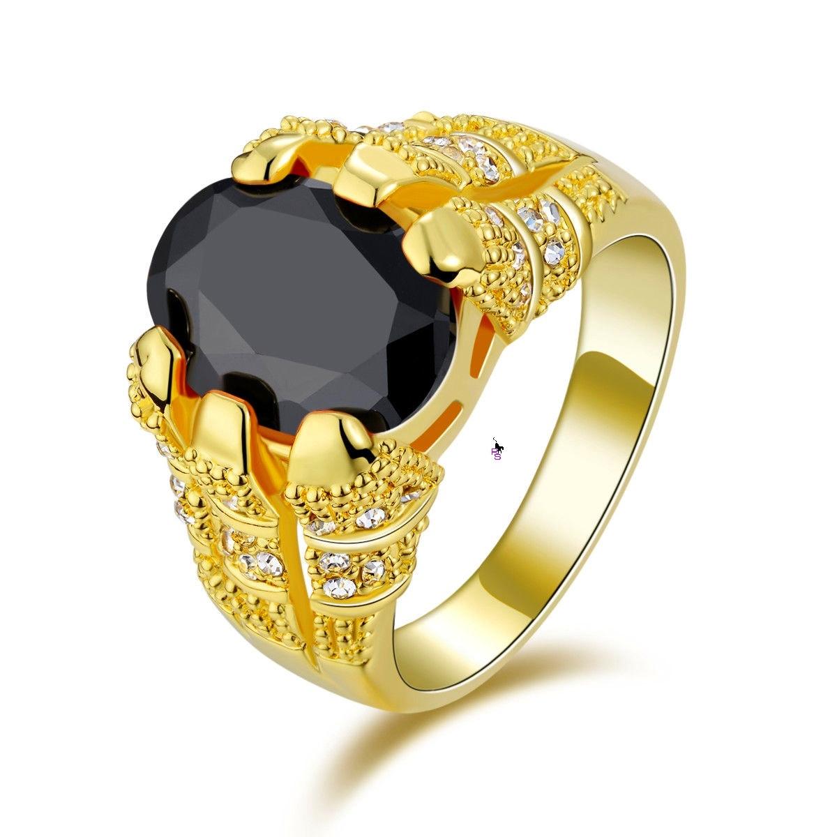 Розкішний чоловічий перстень з чорним каменем