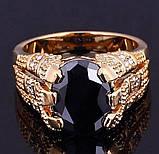 Роскошный мужской перстень с черным камнем, фото 2