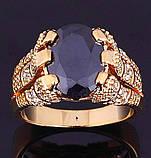 Роскошный мужской перстень с черным камнем, фото 3