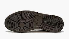 "Кроссовки Nike Air Jordan 1 Retro High x Travis Scott ""Хаки\Белые"", фото 3"