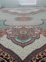 Ковёр персидский прямоугольный в восточном стиле с множеством орнаментов и узоров яркий