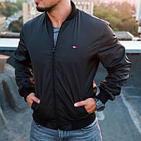 Мужская лёгкая демисезонная куртка - бомбер Tommy Hilfiger (реплика)