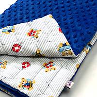 Плед в кроватку/коляску, цвет синий