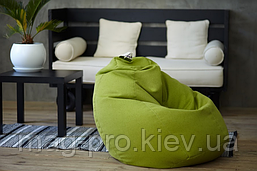 Бескаркасное кресло-груша Рогожка, фото 3