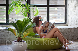 Бескаркасное кресло-груша Рогожка, фото 2
