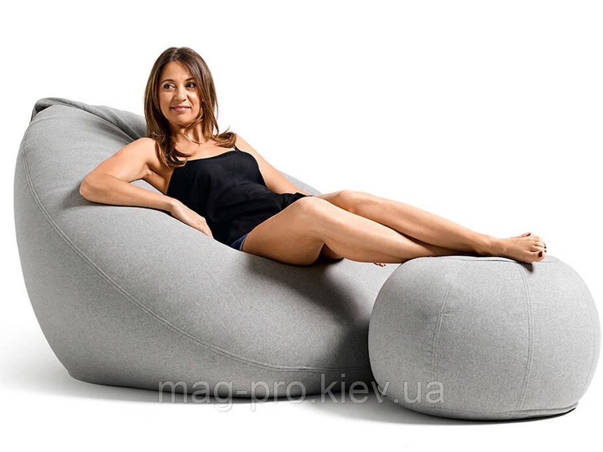 Бескаркасное кресло-груша Рогожка