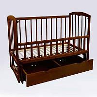"""Детская деревянная кроватка """"Спим"""" с ящиком, маятником и откидным боком"""
