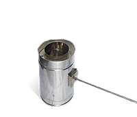 Версия-Люкс (Кривой-Рог) Регулятор тяги утепленный (нерж в оцинк) 0,5 мм, диаметр 100мм