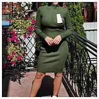 Новинка ! Платье гольф в рубчик, рр 42-46, фото 1