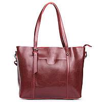 Женская сумка бордового цвета из натуральной кожи, классика, фото 1