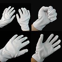 Перчатки белые 20 см, аксессуар для карнавала