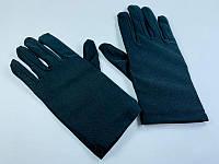 Перчатки черные 20 см, аксессуар для карнавала