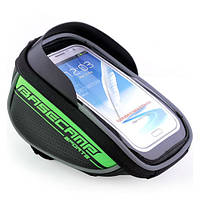 Велосипедный чехол-сумка для телефона BaseCamp на руль - зеленый цвет