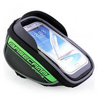 Велосипедный чехол-сумка для телефона BaseCamp на руль - зеленый цвет, фото 1