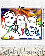 FlipFlop (флип флоп) портрет на заказ 60х80 см