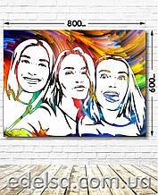 FlipFlop (фліп флоп) портрет на замовлення 60х80 см