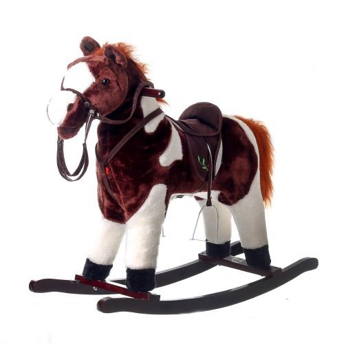 Музыкальная лошадка - качалка  со седлом (77 см)